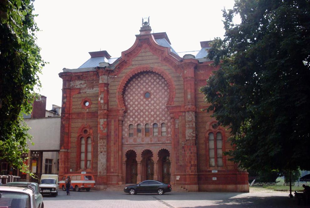 ウジュホロド(ウクライナ)の旧シナゴーグ:現在はコンサート・ホールとして使用されている。